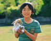 儿童宠物0073,儿童宠物,儿童,捧起兔子