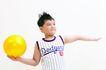 儿童广告0043,儿童广告,儿童,黄色的球