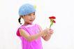 儿童广告0088,儿童广告,儿童,红花 蓝色帽子