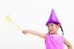 儿童广告0089,儿童广告,儿童,尖顶帽 仙女棒