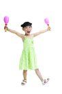 儿童广告去背0045,儿童广告去背,儿童,活泼女孩 绿色裙子