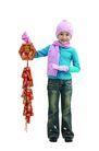 儿童广告去背0087,儿童广告去背,儿童,粉色围巾 鞭炮