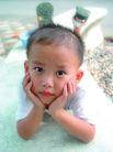 儿童生活0029,儿童生活,儿童,手撑着头