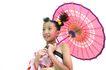 儿童造型0047,儿童造型,儿童,红色的伞