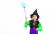 儿童造型0093,儿童造型,儿童,举着扫帚 魔法师 左手叉腰