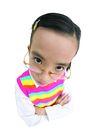 儿童造型特写0094,儿童造型特写,儿童,戴着眼镜 搞怪 抱胸