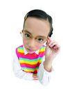 儿童造型特写0095,儿童造型特写,儿童,近视眼女孩 手扶眼镜