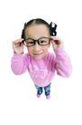 儿童造型特写0097,儿童造型特写,儿童,戴着老花镜 调皮女孩