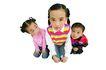 儿童造型特写0098,儿童造型特写,儿童,三个小伙伴 童年 玩伴