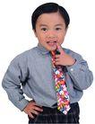 天真儿童0083,天真儿童,儿童,花领带 分头