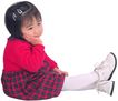 天真儿童0093,天真儿童,儿童,坐地上 边衣裙 短发女孩