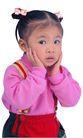 天真儿童0094,天真儿童,儿童,手抚脸 背带裤 童装