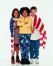 成长岁月0067,成长岁月,儿童,身上的国旗