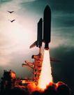 宇宙探索0193,宇宙探索,科技,冲天火箭