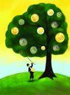 金融符号0049,金融符号,科技,大树 硬币