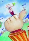 金融符号0099,金融符号,科技,手指 掌头 高空