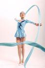 艺术体操0046,艺术体操,运动,蓝色绸带