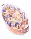 美食插图0098,美食插图,生活百科,虾子 青蔬 食物