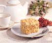 西式糕点0074,西式糕点,生活百科,叉子 白色茶具