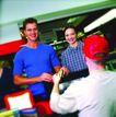 购物场景0049,购物场景,生活百科,结账 收银员 夫妻顾客