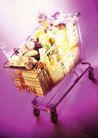 购物特写0036,购物特写,生活百科,推车 装载 物件