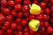食物背景0014,食物背景,生活百科,小西红柿 黄色辣椒