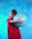 输电设备0099,输电设备,工业,小女孩 地球 球体