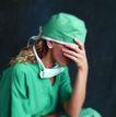 医学人员0009,医学人员,医学医药,感到疲惫 工作劳累