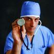 医学人员0016,医学人员,医学医药,拿起听诊器 准备检查患者