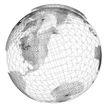 3D地球0097,3D地球,综合,立体图 黑白图 半球