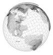 3D地球0098,3D地球,综合,网格 陆地 经纬线