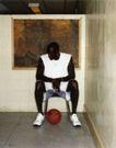 体育运动0128,体育运动,广告创意,一个篮球 黑人选手
