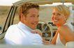情侣摄影0045,情侣摄影,广告创意,结婚了 户外婚纱照 车子上