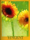 花朵创意0029,花朵创意,广告创意,向日葵