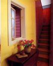 装饰创意0010,装饰创意,广告创意,红色楼梯 插花