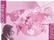 商务分层0017,商务分层,电脑合成,粉色调 地球版图