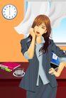 分层插画0016,分层插画,电脑合成,时髦办公女郎 职业装