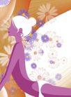 分层插画0022,分层插画,电脑合成,做瑜伽 紫色的身体