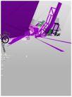 数位分层0023,数位分层,电脑合成,紫色图案