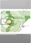 数位分层0028,数位分层,电脑合成,绿色调