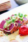 中餐文化0037,中餐文化,美食,肉块 绿叶 生菜