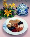 养生食补0031,养生食补,美食,彩瓷 花 朵 配料