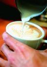 咖啡0078,咖啡,美食,香浓咖啡 倒入奶液