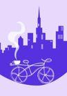 咖啡0086,咖啡,美食,紫色城市 自行车