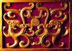 典藏文化0075,典藏文化,中国传统,金色图案