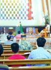祈福0026,祈福,中国传统,教堂里