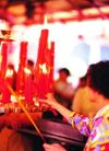 祈福0032,祈福,中国传统,蜡烛 香客
