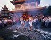 祈福0050,祈福,中国传统,踩火堆