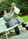 上班族生活0016,上班族生活,商业,公园 看报纸