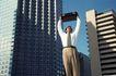 生意个性0032,生意个性,商业,公文包 高楼 生意人